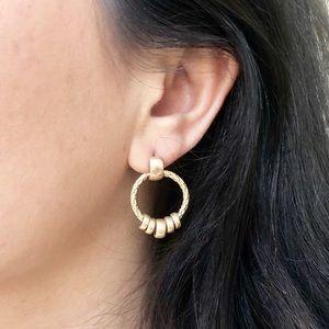 NEW Gold Hoop Earrings Boho Festival like J Crew